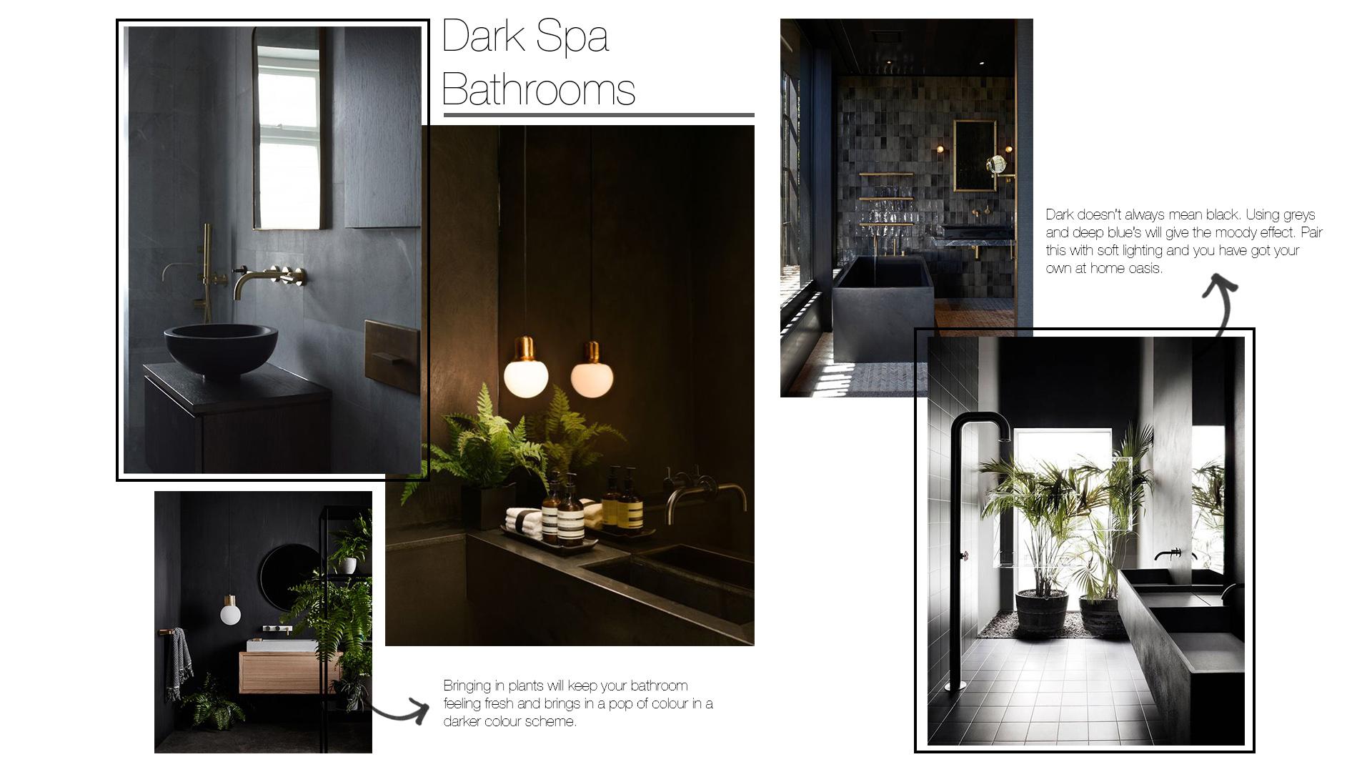 Dark Bathroom Interior Design Trends 2019