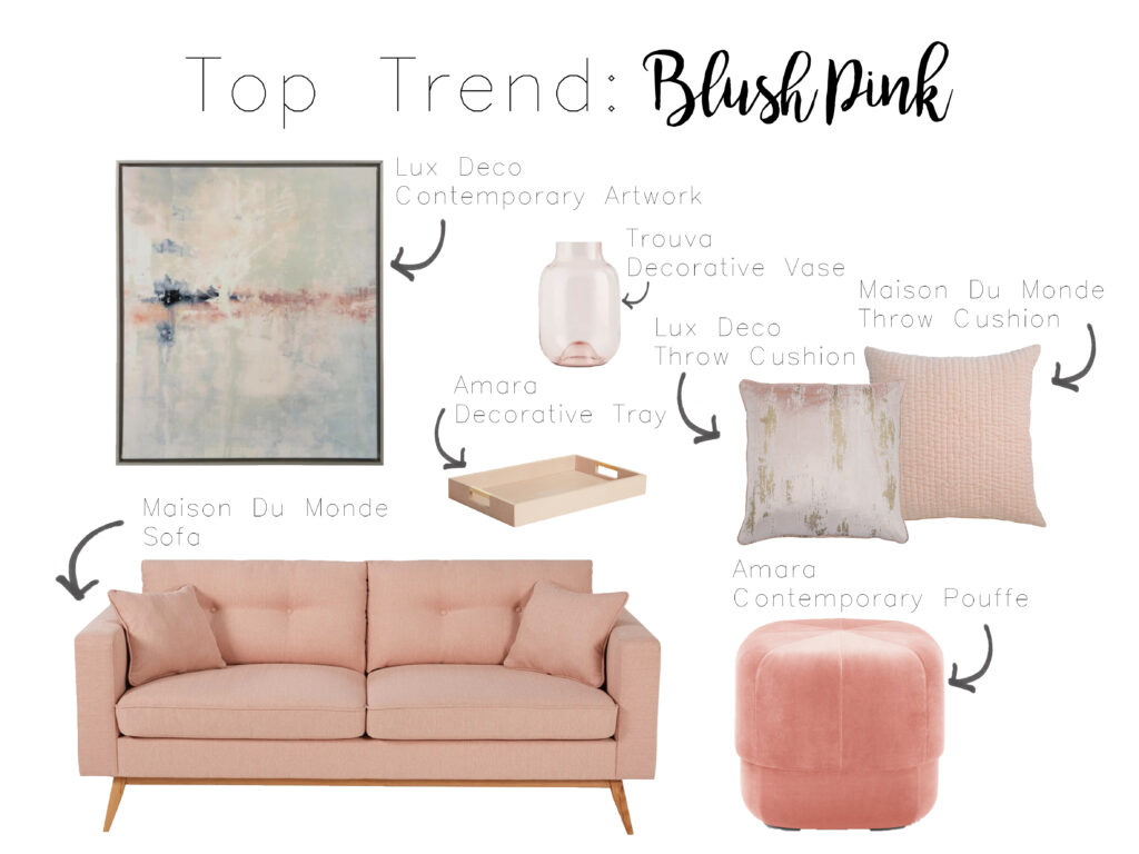 Maison Du Monde Terrazzo top trends 2018: blush pink - falchi interiors